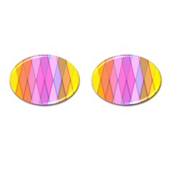 Graphics Colorful Color Wallpaper Cufflinks (oval) by Nexatart