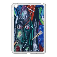 Graffiti Art Urban Design Paint Apple Ipad Mini Case (white) by Nexatart