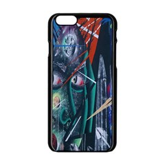 Graffiti Art Urban Design Paint Apple Iphone 6/6s Black Enamel Case by Nexatart