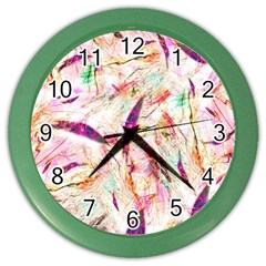 Grass Blades Color Wall Clocks