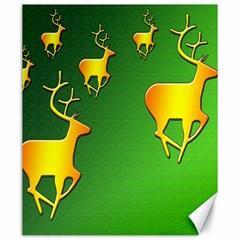 Gold Reindeer Canvas 20  X 24