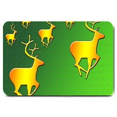Gold Reindeer Large Doormat