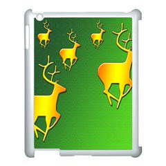 Gold Reindeer Apple Ipad 3/4 Case (white)