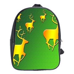 Gold Reindeer School Bags (xl)