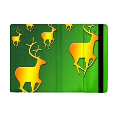 Gold Reindeer Ipad Mini 2 Flip Cases