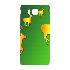 Gold Reindeer Samsung Galaxy Alpha Hardshell Back Case