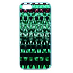 Green Triangle Patterns Apple Seamless Iphone 5 Case (color)