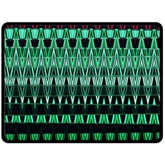 Green Triangle Patterns Double Sided Fleece Blanket (large)