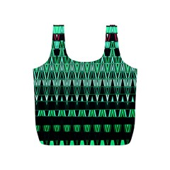 Green Triangle Patterns Full Print Recycle Bags (s)