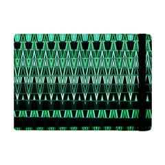Green Triangle Patterns Ipad Mini 2 Flip Cases by Nexatart