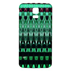 Green Triangle Patterns Samsung Galaxy S5 Back Case (white)