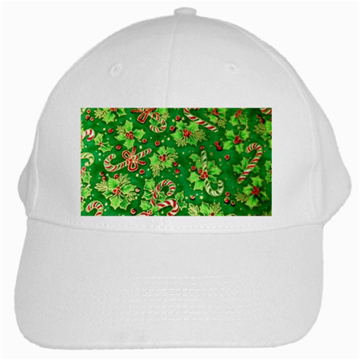 Green Holly White Cap