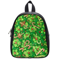 Green Holly School Bags (Small)  by Nexatart