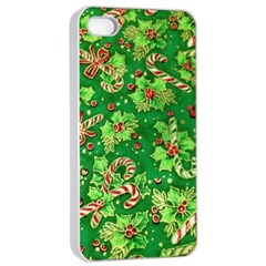 Green Holly Apple Iphone 4/4s Seamless Case (white)