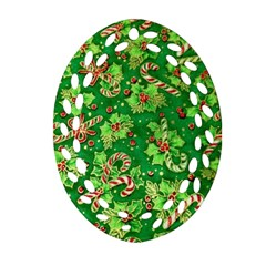 Green Holly Ornament (oval Filigree)