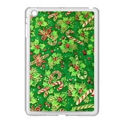 Green Holly Apple Ipad Mini Case (white)