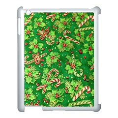 Green Holly Apple Ipad 3/4 Case (white)