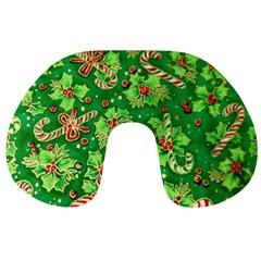 Green Holly Travel Neck Pillows
