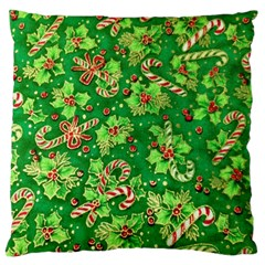 Green Holly Standard Flano Cushion Case (one Side)