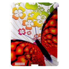 Greeting Card Butterfly Kringel Apple Ipad 3/4 Hardshell Case (compatible With Smart Cover) by Nexatart
