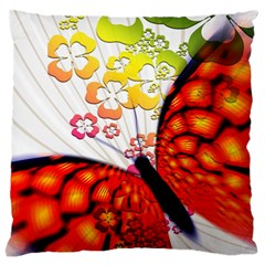 Greeting Card Butterfly Kringel Large Flano Cushion Case (one Side)