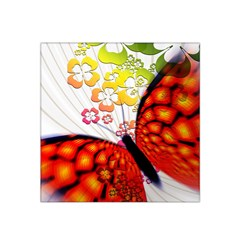 Greeting Card Butterfly Kringel Satin Bandana Scarf by Nexatart