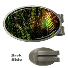 Green Leaves Psychedelic Paint Money Clips (oval)
