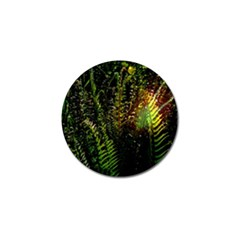 Green Leaves Psychedelic Paint Golf Ball Marker (4 Pack)