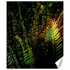 Green Leaves Psychedelic Paint Canvas 8  X 10