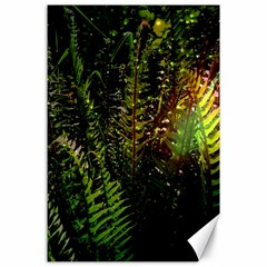 Green Leaves Psychedelic Paint Canvas 24  X 36