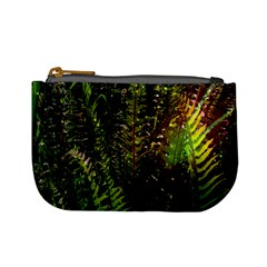 Green Leaves Psychedelic Paint Mini Coin Purses