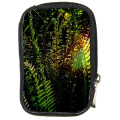 Green Leaves Psychedelic Paint Compact Camera Cases by Nexatart