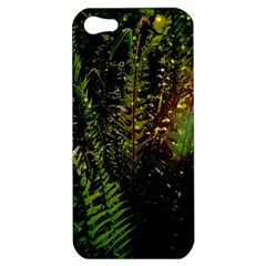 Green Leaves Psychedelic Paint Apple Iphone 5 Hardshell Case