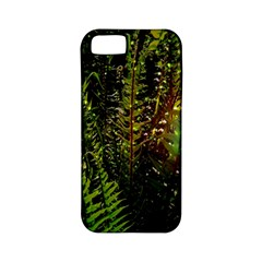 Green Leaves Psychedelic Paint Apple iPhone 5 Classic Hardshell Case (PC+Silicone)