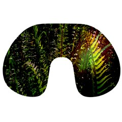Green Leaves Psychedelic Paint Travel Neck Pillows