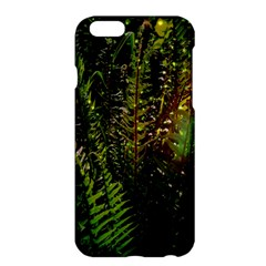 Green Leaves Psychedelic Paint Apple Iphone 6 Plus/6s Plus Hardshell Case by Nexatart