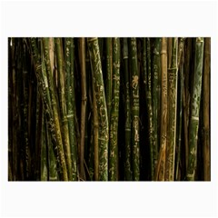 Green And Brown Bamboo Trees Large Glasses Cloth (2 Side)