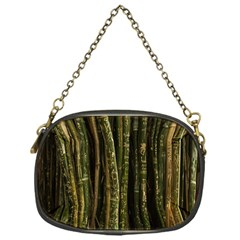 Green And Brown Bamboo Trees Chain Purses (one Side)