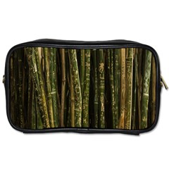 Green And Brown Bamboo Trees Toiletries Bags