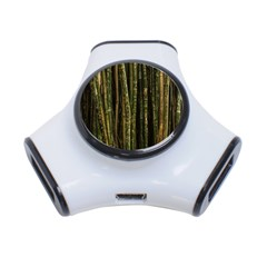 Green And Brown Bamboo Trees 3 Port Usb Hub