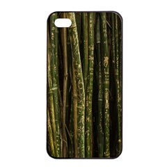 Green And Brown Bamboo Trees Apple Iphone 4/4s Seamless Case (black)