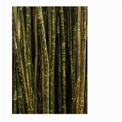 Green And Brown Bamboo Trees Large Garden Flag (two Sides)