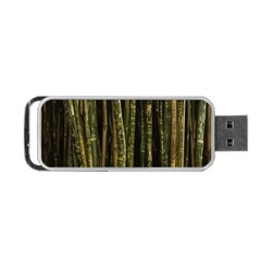 Green And Brown Bamboo Trees Portable Usb Flash (two Sides)