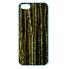 Green And Brown Bamboo Trees Apple Seamless Iphone 5 Case (color)