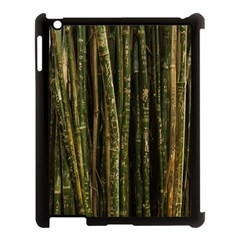 Green And Brown Bamboo Trees Apple Ipad 3/4 Case (black) by Nexatart