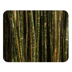 Green And Brown Bamboo Trees Double Sided Flano Blanket (large)  by Nexatart
