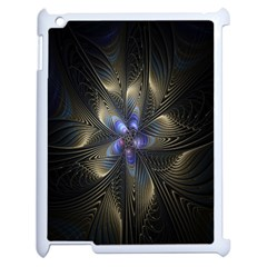 Fractal Blue Abstract Fractal Art Apple Ipad 2 Case (white) by Nexatart