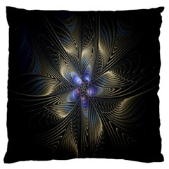 Fractal Blue Abstract Fractal Art Large Cushion Case (two Sides) by Nexatart