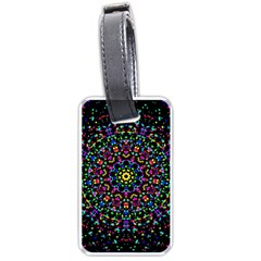 Fractal Texture Luggage Tags (one Side)