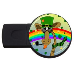 Irish Giraffe Usb Flash Drive Round (2 Gb) by Valentinaart